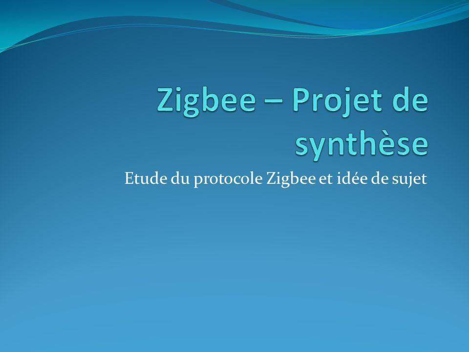 1) Les domaines de développement Zigbee 2) Etat de la consommation électrique 3) Idée de développement Zigbee 4) Introduction de la sécurité 5) Conclusion