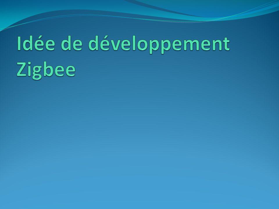 Idée de développement Zigbee Idée de développement dans un contexte déconomie dénergie, dautomatisation et de contrôle à distance Scénario : Vous êtes un jeune informaticien et vivez dans un appartement en France.