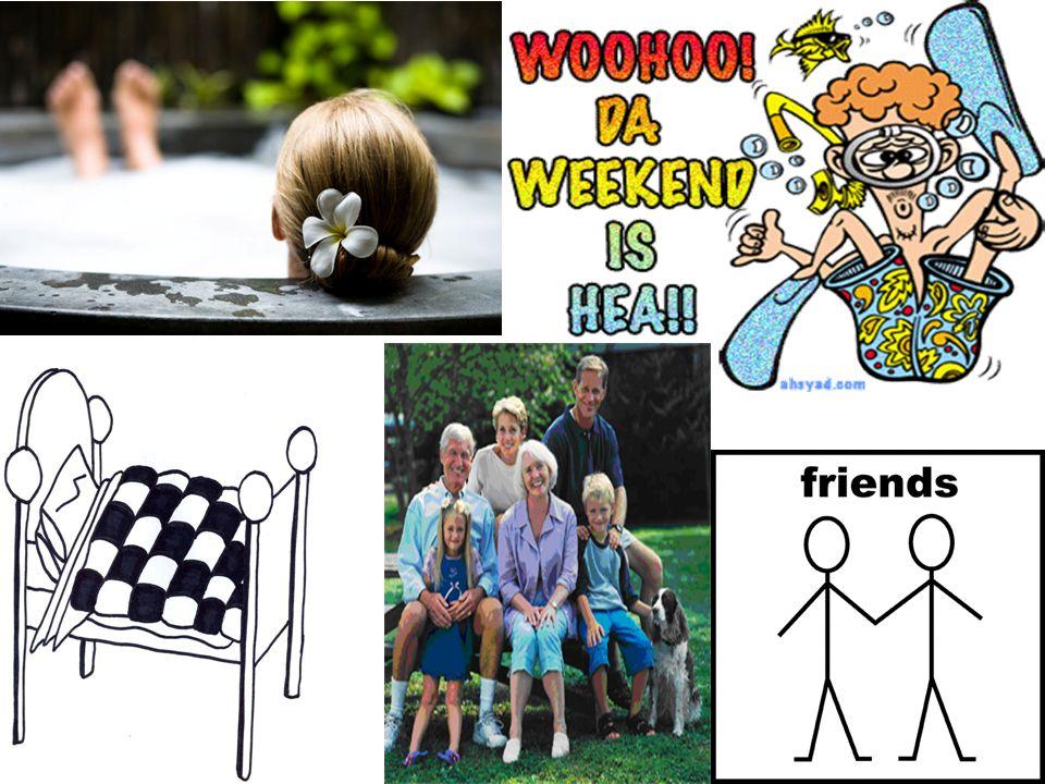 1.Le weekend dernier, j……. 2. Le weekend dernier…..