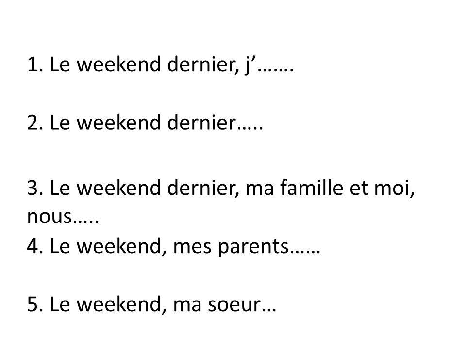 Je/J vous il/elle/on nous tu ils elles I you (friend) he/she/ one we 1.