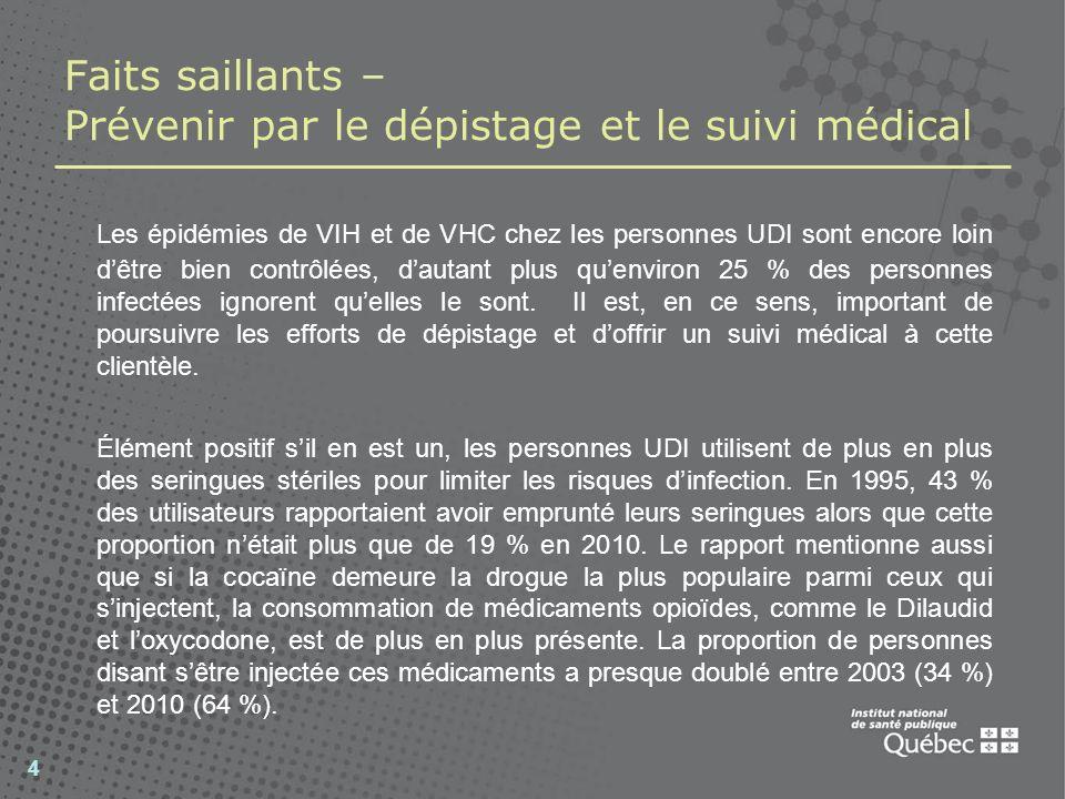 Faits saillants – Le traitement de lhépatite C chronique La majorité des infections liées à lhépatite C nécessiteront un suivi médical.