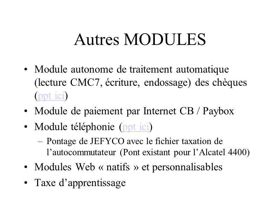 Autres MODULES KIWI: le module missions (ppt ici)ppt ici Papaye:le module de paie (ppt ici)ppt ici Coconuts:le module convention Pie : les prestations int/ext –Nécessitent un serveur dapplication WebObjects 5.2 –Ils disposent de 2 interfaces: Java-client SWING: Windows, Mac OS X, Unix/Linux HTML 3/3 mais uniquement pour les usages occasionnels –Fonctionne sous Oracle (8i, 9i) mais le module est SGBDR indépendant.