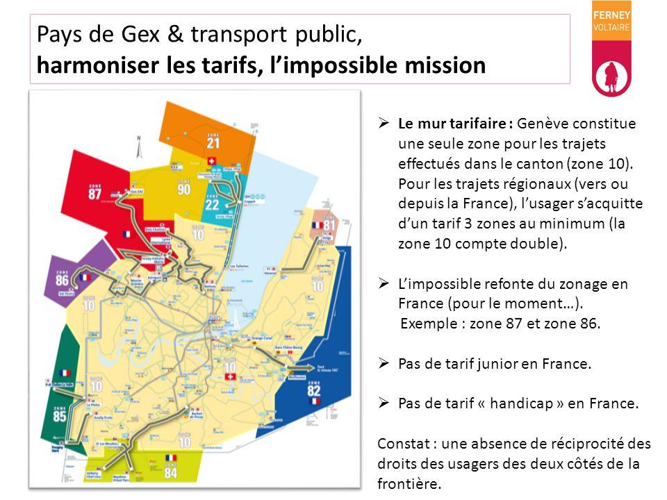 Pays de Gex & transport public, dessinons le réseau de demain Schéma voté en 2012 par la CCPG dans son plan de mobilité durable (P.M.D.) Les principaux projets : - le BHNS : bus à haut niveau de service – Gex – Ferney-Voltaire – Genève Cornavin (2017) - les trams : Saint-Genis et Ferney- Voltaire (2020/2025) - le train : ligne du pied de la montagne et la connexion CEVA (2030).