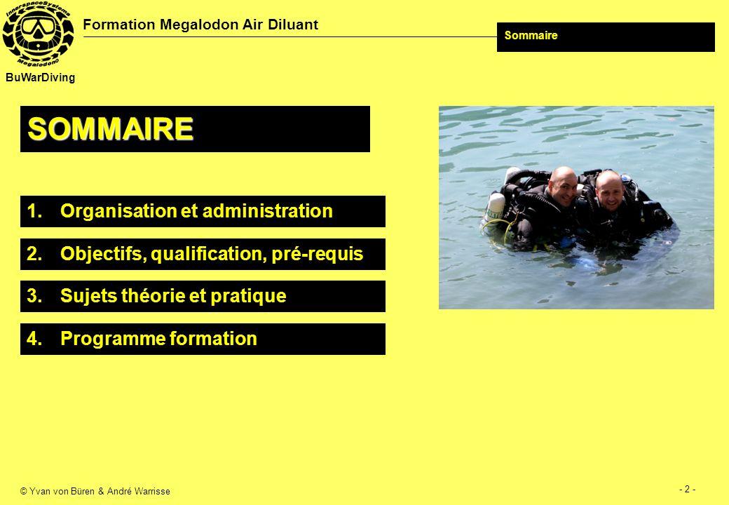 © Yvan von Büren & André Warrisse - 3 - Formation Megalodon Air Diluant BuWarDiving 1.