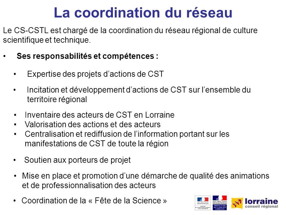 Les actions de terrain Les acteurs du réseau développent des actions de CST à léchelle de leur territoire.