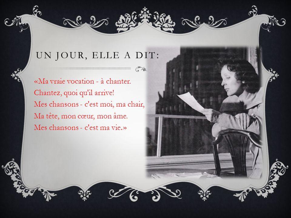 LE 18 MARS 1963 PIAF EST APPARUE DEVANT LE PUBLIC POUR LA DERNIÈRE FOIS… Le 14 octobre 1963 Edith Piaf a laissé ce monde...