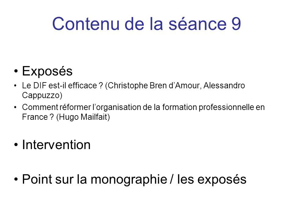 Evolution du système français Positionnement des employeurs & Outils de ce positionnement La formation professionnelle continue (FPC)