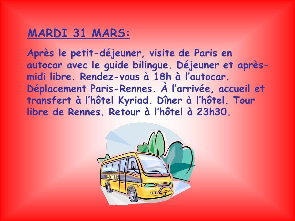 Petit-déjeuner et visite de Rennes, capitale de la région Bretagne.