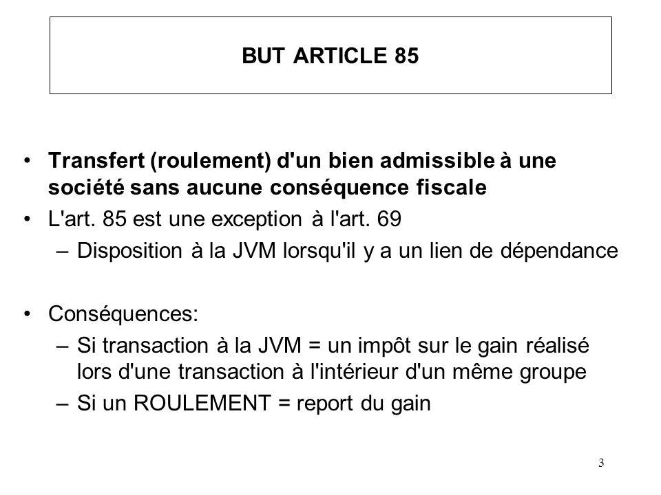 4 TRANSACTIONS VISÉES Constitution d une société* –Entreprise à propriétaire unique [art.
