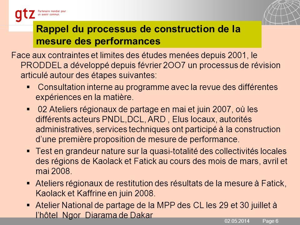 02.05.2014 Seite 7 Page 7 Objectifs Objectif global: Les collectivités locales améliorent lefficacité du service public dans leurs domaines de compétences.
