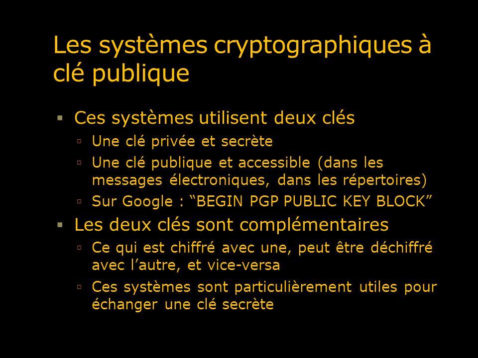 Cryptographie à clé publique – le cryptage Chaque participant possède 2 clés Celles-ci sont utilisées afin de permettre tant le chiffrage que la signature http://www.consultants-online.co.za