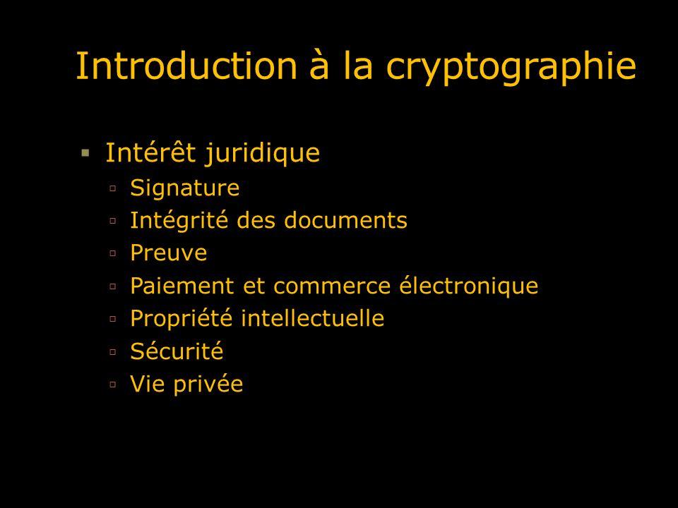 Dans cette introduction Notions Cryptographie à clé secrète Cryptographie à clé publique Les systèmes hybrides Les fonctions de hachage La signature électronique Les certificats, les infrastructure à clé publique, … Le protocole SSL