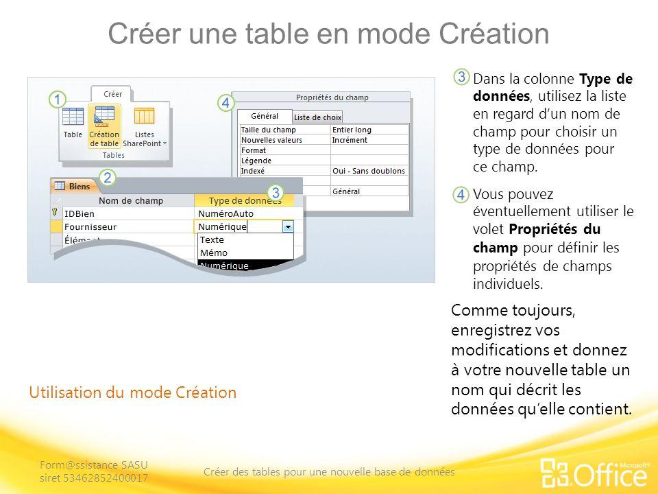 Ajouter et enregistrer les données Processus denregistrement des données Lors de la finalisation de vos tables, vous entrerez probablement quelques enregistrements.