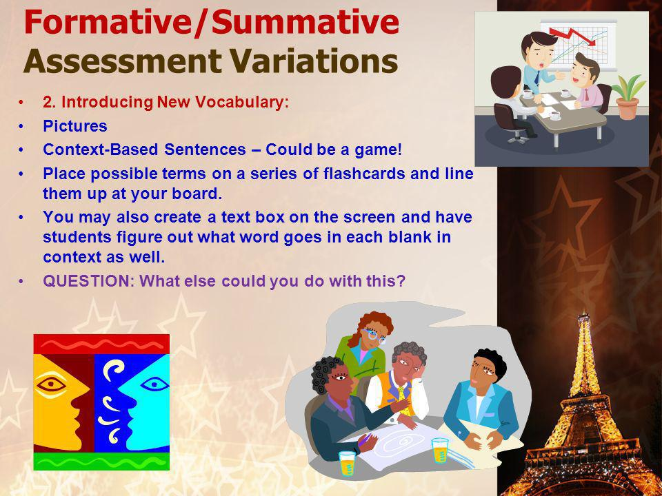 Formative/Summative Assessment Variations 2.