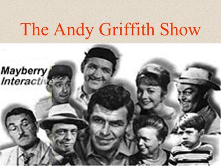 The Andy Griffith Show avec Andy Taylor et Barney Fife.