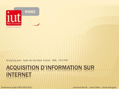 Acquisition d'information sur internet