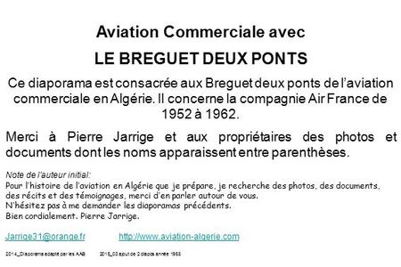 Aviation Commerciale avec
