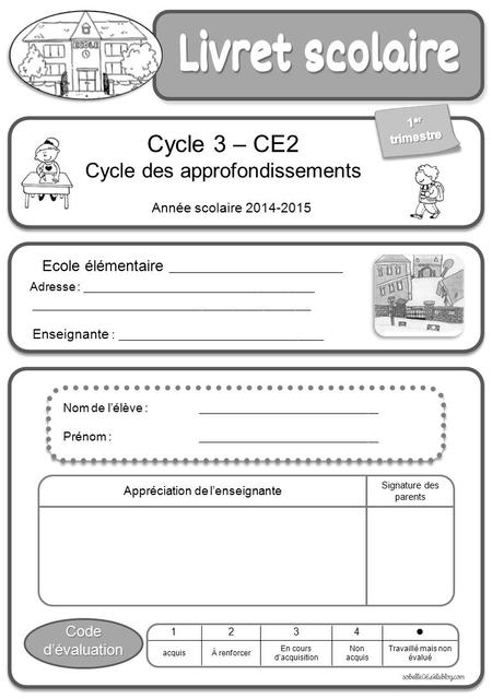 Cycle 3 – CE2 Cycle des approfondissements