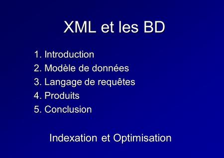 Indexation et Optimisation