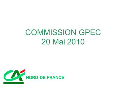 COMMISSION GPEC 20 Mai 2010 NORD DE FRANCE.