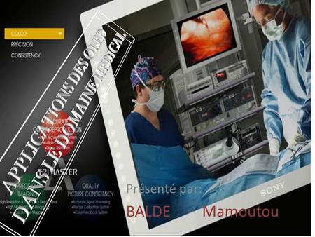 APPLICATIONS DES OLED DANS LE DOMAINE MEDICAL