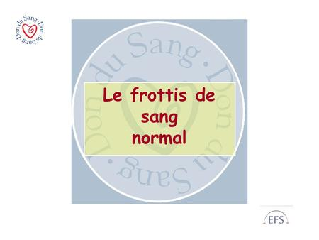 Le frottis de sang normal
