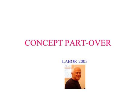CONCEPT PART-OVER LABOR 2005. PORTEFOLIO 1 2 3.