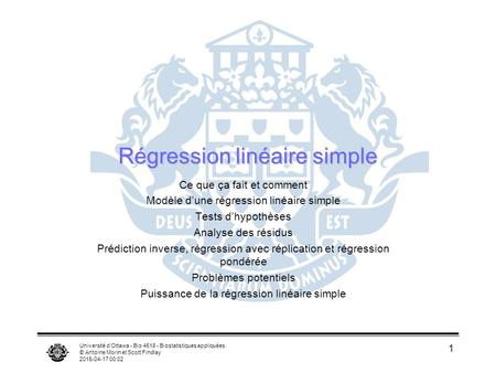 Régression linéaire simple