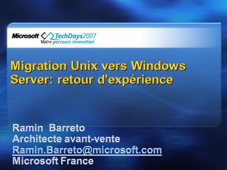 Migration Unix vers Windows Server: retour d'expérience