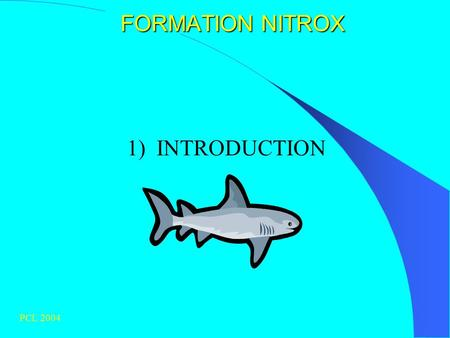 FORMATION NITROX 1) INTRODUCTION PCL 2004.