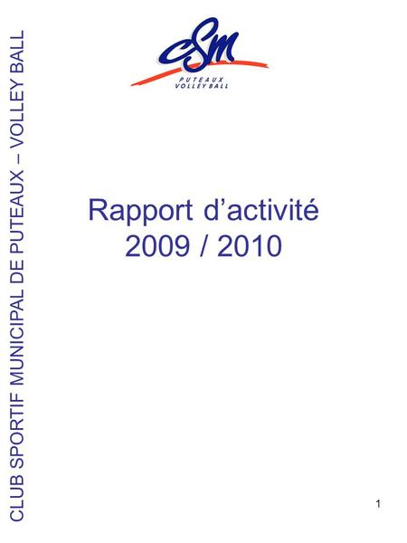 CLUB SPORTIF MUNICIPAL DE PUTEAUX – VOLLEY BALL
