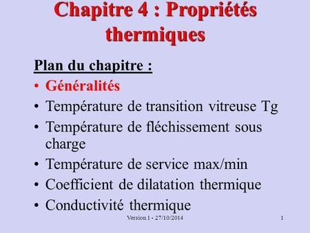 propriétés thermiques des matériaux polymères Les propriétés thermiques des matériaux et les références métrologiques 1 applications des propriétés thermiques de matériaux les applications de la connaissance des propriétés thermiques des matériaux, et donc de leurs.