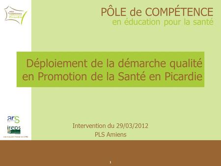 Intervention du 29/03/2012 PLS Amiens