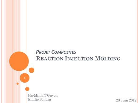 Projet Composites Reaction Injection Molding