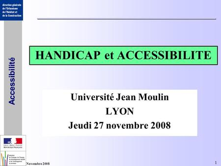 HANDICAP et ACCESSIBILITE