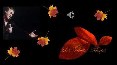 les feuilles mortes paroles pdf