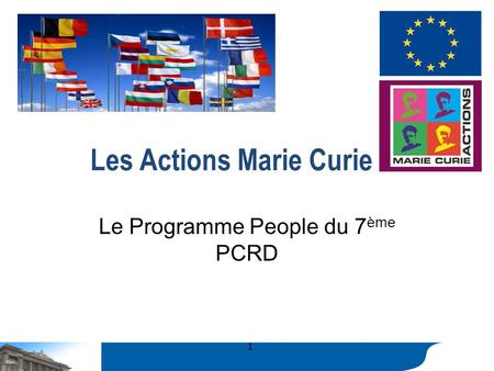 Les Actions Marie Curie