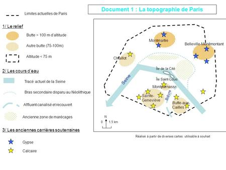 Document 1 : La topographie de Paris