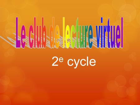 Le club de lecture virtuel