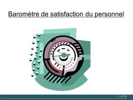 Baromètre de satisfaction du personnel