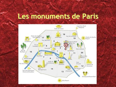 Les monuments de Paris.