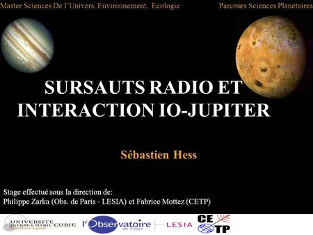 SURSAUTS RADIO ET INTERACTION IO-JUPITER
