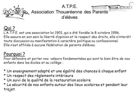 Association Thouaréenne des Parents d'élèves