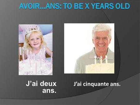avoir…ans: to be x years old