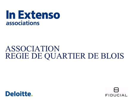 ASSOCIATION REGIE DE QUARTIER DE BLOIS. RAPPORT FINANCIER.