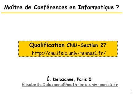 1 le conseil national des universit s cnu les sections 61 - Grille indiciaire maitre de conference ...