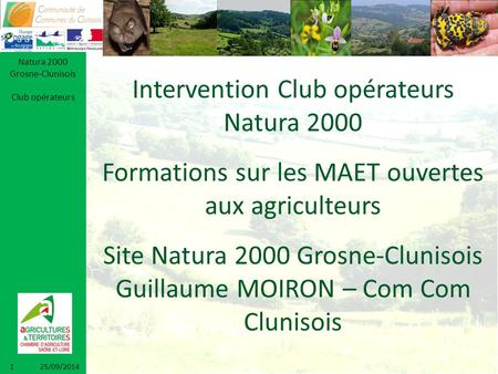 Intervention Club opérateurs Natura 2000