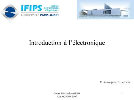 Introduction à l'électronique