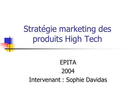 Hightech strategie definition