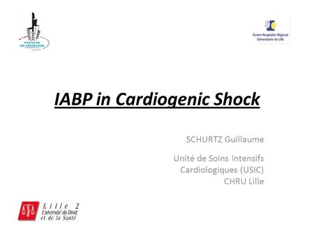 IABP in Cardiogenic Shock
